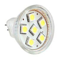 MR11 GU4 LAMPADA LAMPADINA FARETTO 6 LED SMD BIANCO 6000K HK