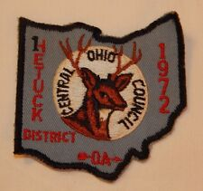 1972 Hetuc Distric Order of the Arrow Boy Scout Central Ohio Council patch