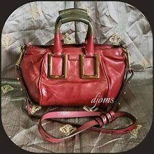 Chloe Ethel Burgundy Red 2way Top Handle Cossbody Bag