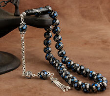 Islamic Prayer Beads, Real Erzurum Oltu Stone Tesbih, masbaha, 9 mm, 33 beads