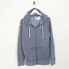 Vintage UNDER ARMOUR Zip Up Hoodie Sweatshirt Blue | Small S