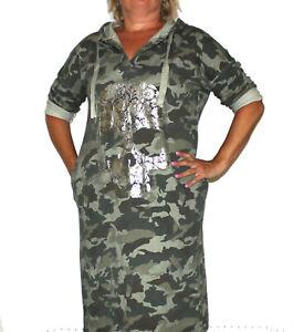 NEW COLLECTION  DAMEN  KLEID KAPUZEN KLEID  Camouflage