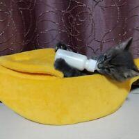 Hundebett Katzenhaus Haustier Katze Hund Bett Höhle Weiche Warme Banane Form