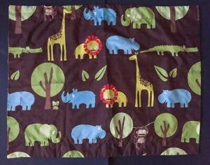Circo Wild Safari Pillow Sham Bedding Case African Animals Lion Giraffe Fabric