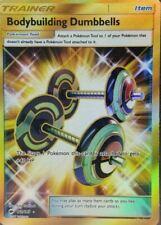 Bodybuilding Dumbbells Full Art Secret Rare NM Burning Shadows 161/147 Pokemon T