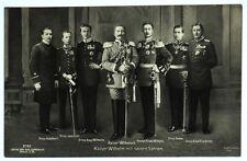 Cartolina Originale Kaiser Wilhelm Mit Seinen Sohnen