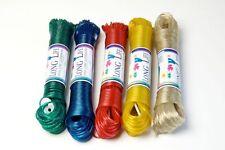 20M EVERLASTO LONG LIFE STEEL CORE PLASTIC CLOTHES WASHING LINES - RANDOM COLOUR