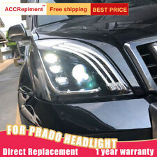 2Pcs For Toyota Prado Headlights assembly Bi-xenon Lens Projector LED DRL 03-09