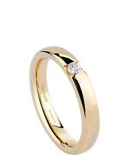 anneau Damiani BANDE alliance or jaune 20035658 mariage 9 diamant