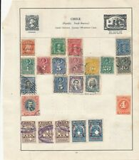 Chile Early stamp collection on  album page