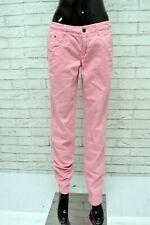 Pantalone TOMMY HILFIGER Donna Taglia 26 Jeans Pants Woman Cotone Rosa Regular