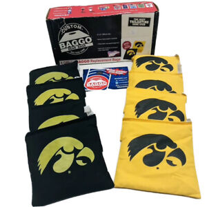 University of Iowa Baggo Bean Bags Black and Gold