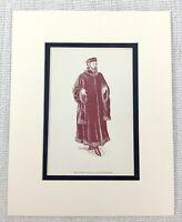 1889 Antico Stampa Dottore Caius William Shakespeare The Merry Wives Di Windsor