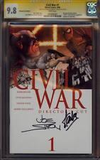 "CIVIL WAR 1 CGC 9.8 2X SS JOE SIMON STAN ""THE MAN"" LEE DIRECTOR'S CUT MOVIE MINT"