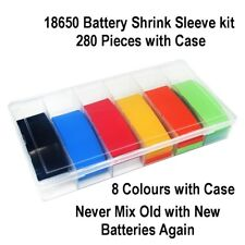 280 Pcs PVC Heat Shrink Tubing Tube Wrap Kit Flat 18.5mm For 18500 18650 Battery