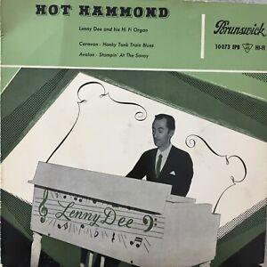 LENNY DEE and his Hi Fi Organ: Hot Hammond (EP Brunswick 10 073 EPB / Mono)