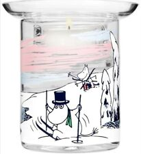 Moomin Winter Time candle holder by Muurla, Finland. 10cm.