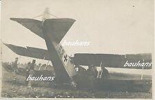 Foto Fliegertruppe deutsches Flugzeug-Notlandung/crash-Unfall 1.WK (t570)