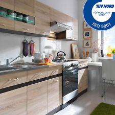 FIWODO® - Küchenzeile 2,4m AB LAGER Eiche ERWEITERBAR Einbauküche Küche günstig