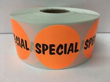 """1000 1.5"""" Round SPECIAL Retail Price Labels Stickers"""