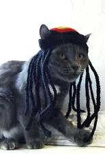 Rasta Reggae Hats Cats Small dog Pet Clothes Outfit Crochet  Pet Hat costume