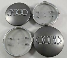 New Set of 4 Wheel Center Hub Caps Dark Gunmetal Grey 60MM For Audi #4B0601170