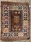 "4'5"" x 3' Antique Shirvan Style Carpet Caucasian Rug Kazak Handmade Oriental Rug"