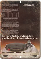 "Technics D1 Vintage Turntable Ad 10"" x 7"" Reproduction Metal Sign D124"