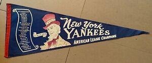 Vintage New York Yankees full size baseball pennant