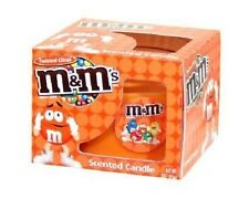 M&M's Twisted Citrus Orange Scented Candle in Glass Holder Container/Choco/NEW