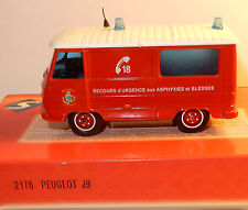 SOLIDO MADE IN FRANCE PEUGEOT J9 SAPEURS POMPIERS MARSEILLE SECOURS URGENCE 2176