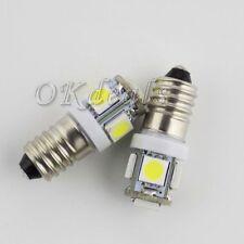 Quality Lamp E10 1.2W 6500K 70-Lumen 5-SMD LED Auto Bulb Car Light Whte DC 12V