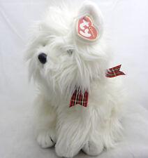 "TYClassic 2001 MacDougal Scottie Dog Plush Stuffed Animal 12"" white puppy w tag"