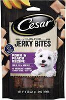 Cesar Jerky Bites Grain Free Dog Treats Pork & Peach Recipe, 8 oz. Pouch