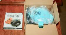 """Yes Chef 5"""" Personal Griddle Teal Color New in Box with Recipe Booklet Guide"""