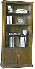 Libreria a giorno 2 ante cieche,legno massello, arte povera, ufficio, mobile