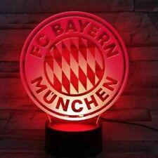 FC Bayern München LED Licht Logo, FCB Nachtlicht, USB LED Lampe, 24780