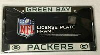 """Green Bay Packers WHITE Metal Chrome License Plate Frame Auto Truck Car 6""""X12"""""""