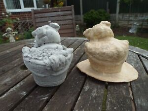 Pig in a Basket  latex mould To Make Garden Ornament Statue Concrete IN STOCK C