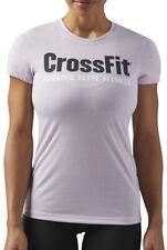 Reebok Crossfit Speedwick FEF Womens Training Top Pink Short Sleeve Workout Tee
