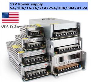 12V DC Switching Power Supply LED Strip 5A, 8.5A, 16.7A, 20A/21A, 30A, 40A, 50A