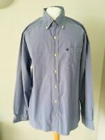 Converse Shirt XL Extra Large One Star Checked Check Blue Cotton Long Sleeve