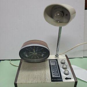 Longines Symphonette Model LCR513 Mid Century Modern Clock Radio light