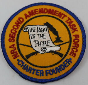 """NRA Second Amendment Task Force Charter Founder 3"""" Badge Patch"""