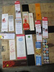 Marque pages collectors-Lot  de 17-Restaurants,gourmets,spécialités...
