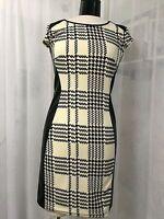 Y YIGAL Black Graphic Sheath Dress Size Small NWOT