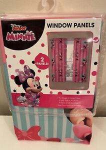 Disney Junior Minnie Mouse Window Panels (2 Curtains) NEW