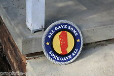 """All Gave Some, Some Gave All- Mantle Plaque (Painted)- 11"""" X 1"""" Made in Usa"""