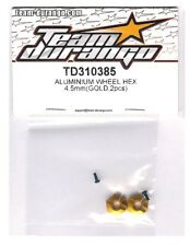RC Team Durango TD310385 Aluminum Wheel Hex Gold DETC410 v2 Touring Car 1/10 NIB
