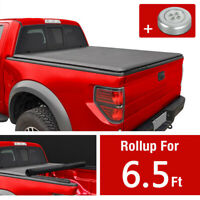 For 2004-2014 Ford F150 Fleetside 6.5 Ft Short Bed Soft Roll Up Tonneau Cover